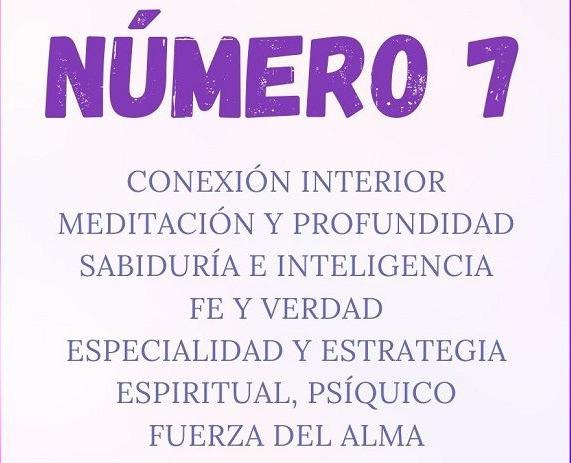 Numerologia El significado del numero 7
